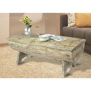 Duboce Vintage Wooden Coffee Table with Storage