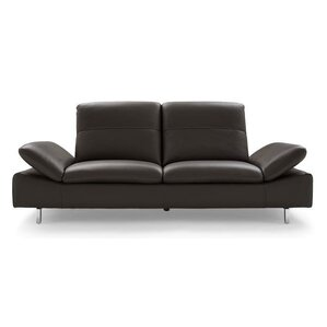 Bullard Leather Sofa by Orren Ellis