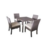 Galina 5 Piece Dining Set with Cushions
