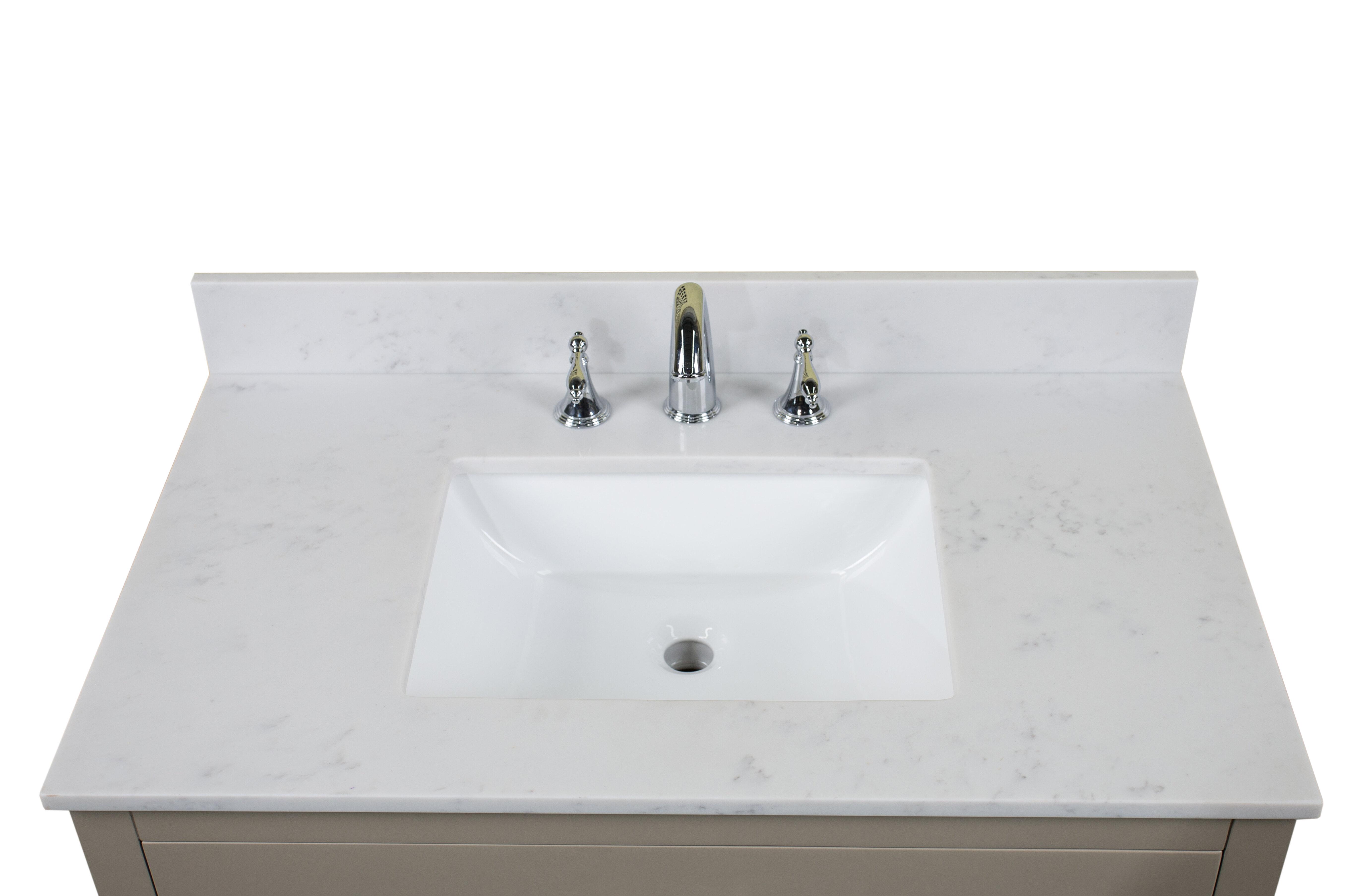 Renaissancevanity Carrara Quartz 37 Single Bathroom Vanity Top Wayfair