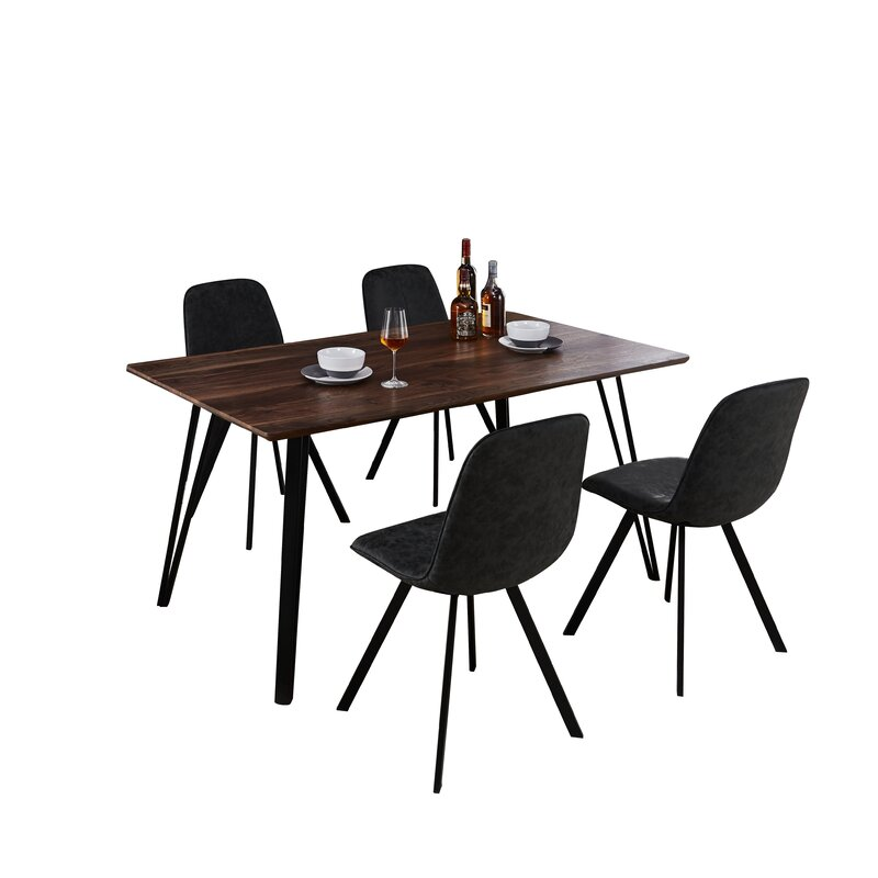Williston Forge  Malmo Design Rectangle Table 5 Piece Solid Wood Dining Set