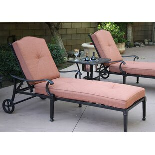 Fairmont Chaise Lounge Set with Cushions and Table