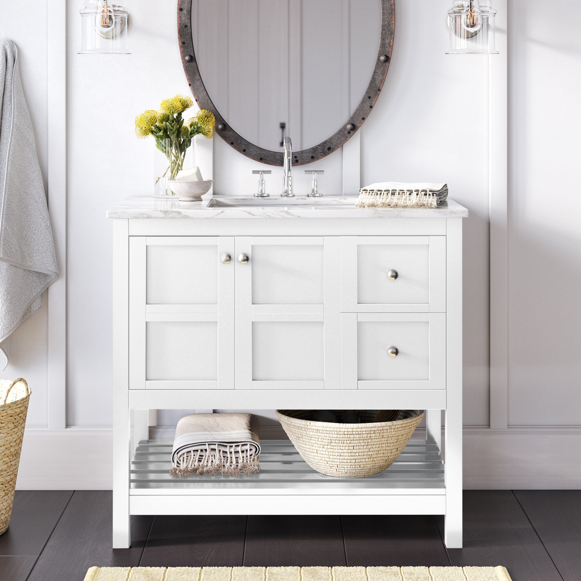 White Bathroom Vanities You Ll Love In 2021 Wayfair