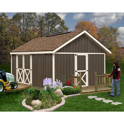 Fairview 12 ft. W x 16 ft. D Solid Wood Storage Shed Best Barns
