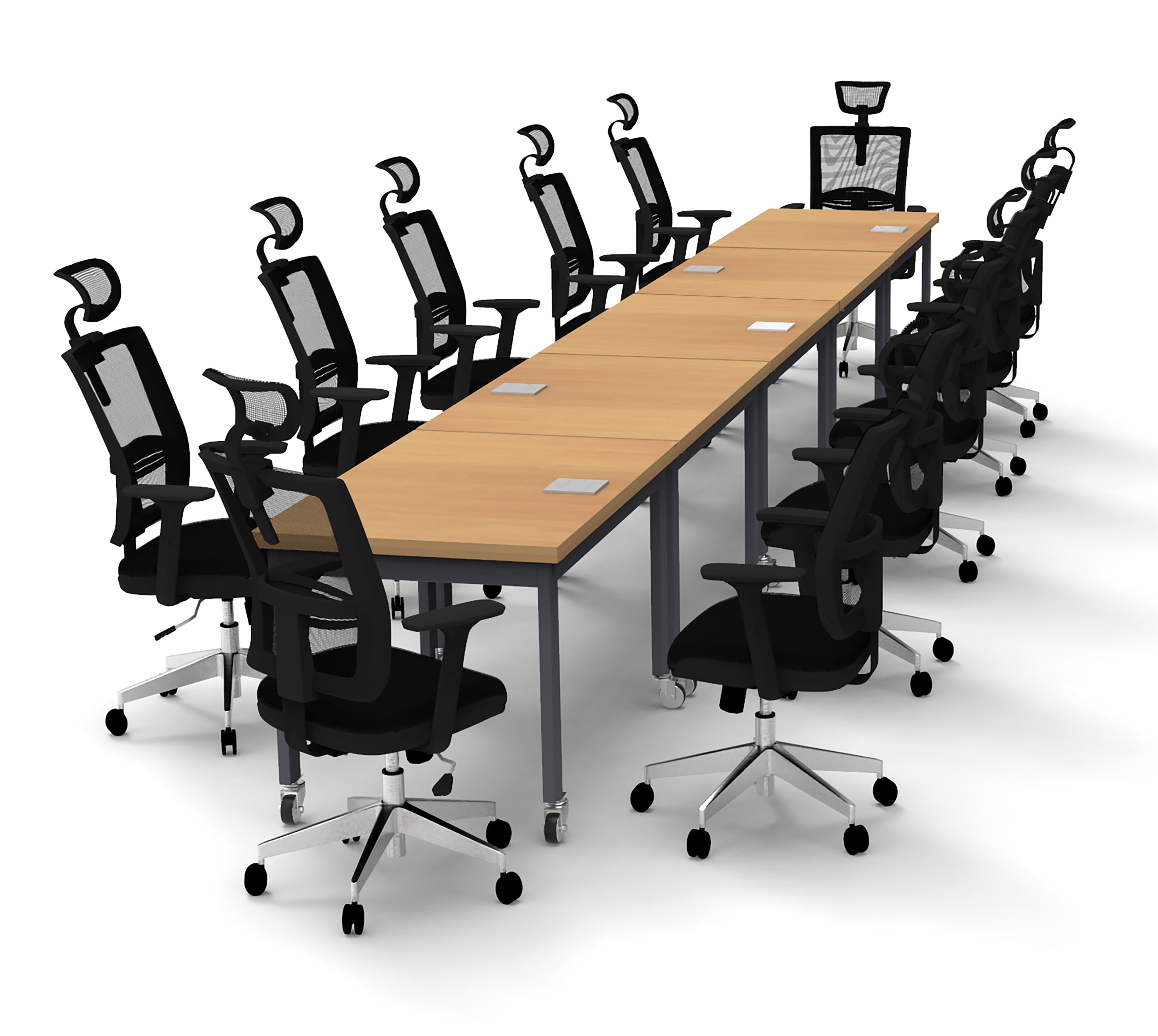 Rectangular Conference Table Set