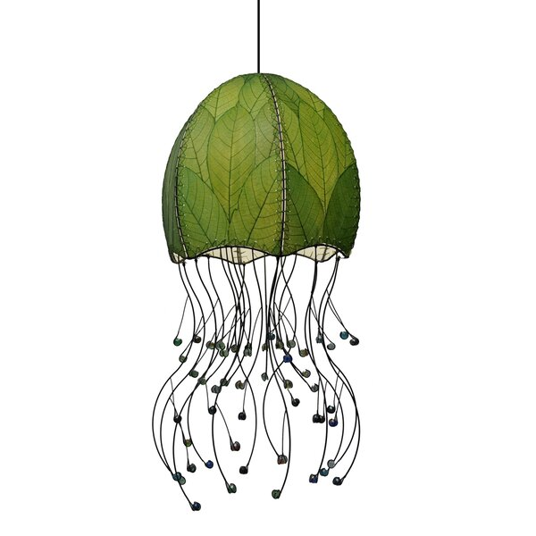 pendant your light add decor jellyfish lights natural smooth lamp to a touch wood wooden that these