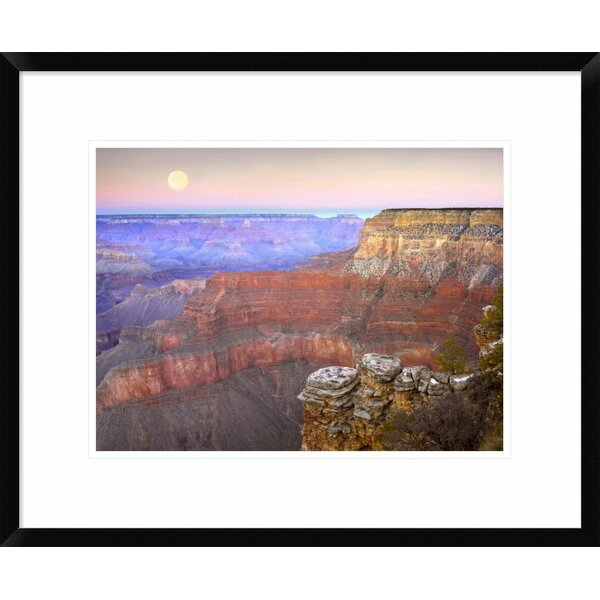 Global Gallery Full Moon Over The Grand Canyon At Sunset As Seen