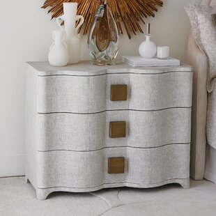 Toile Linen 3 Drawer Accent Chest by Studio A Home
