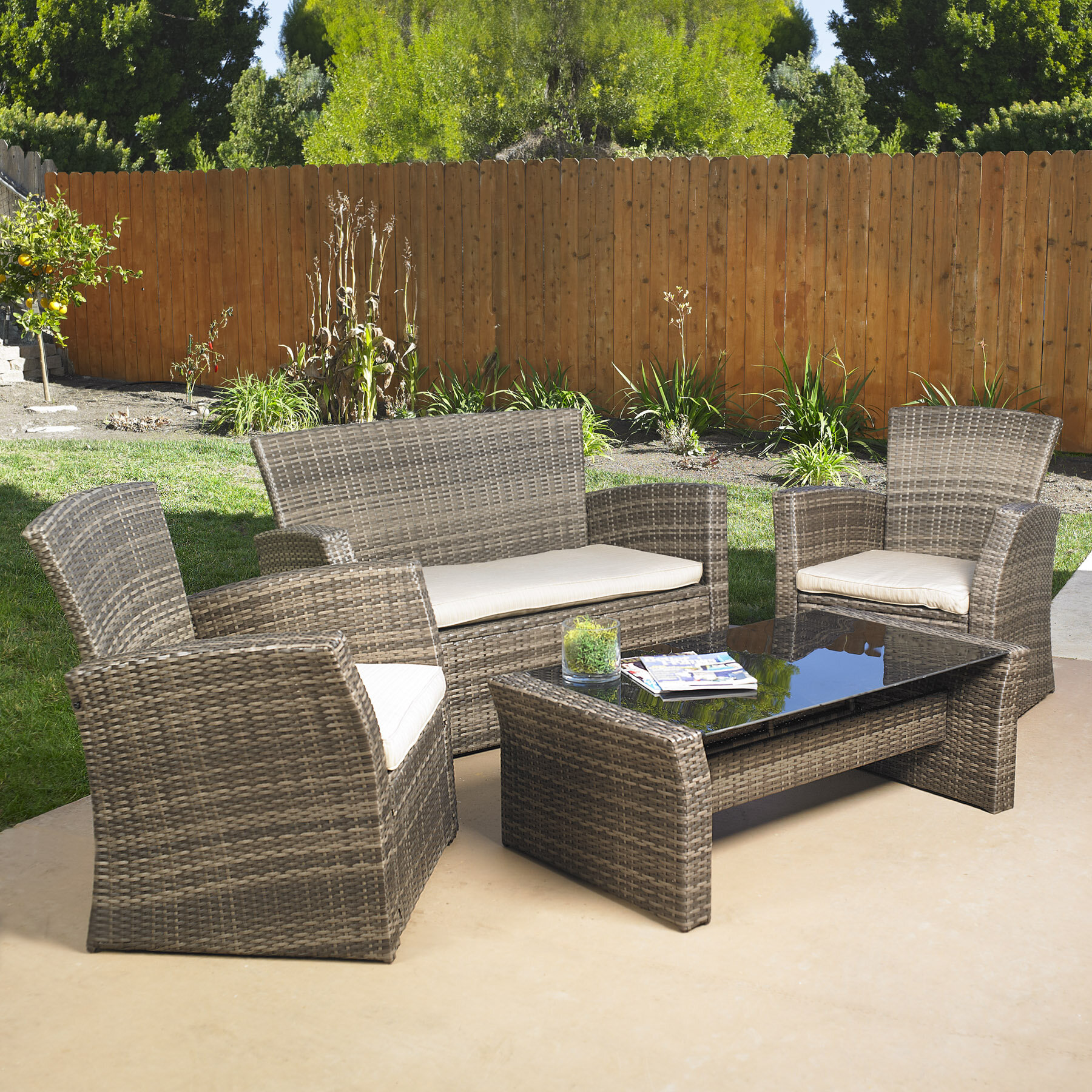 Delicieux Mission Hills Redondo 4 Piece Sofa Set With Cushions U0026 Reviews | Wayfair