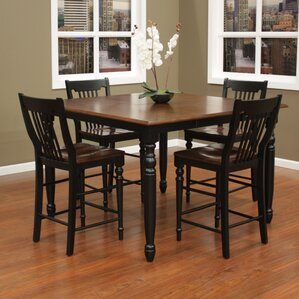 Deer Lodge 5 Piece Counter Height Dining Set by August Grove