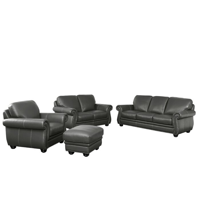 Fairdale 4 Piece Leather Living Room Set