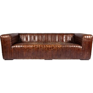 Andr๏ฟฝa Leather Chesterfield Sofa by 17 Stories SKU:CA626530 Price Compare