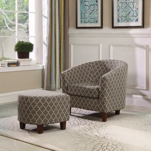 Burkhart Barrel Chair and Ottoman By Winston Porter