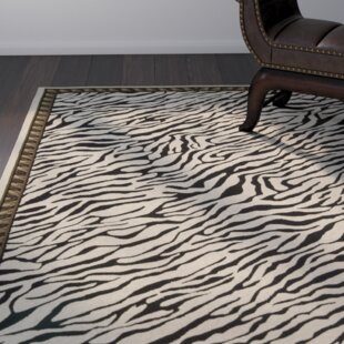Compare Skandar Hand-Hooked Wool Beige/Black Indoor Area Rug ByBloomsbury Market