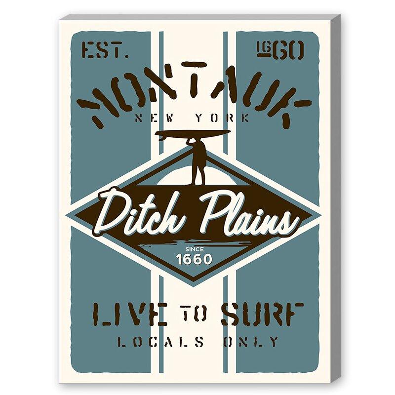 Montauk Surf Vintage Advertisement