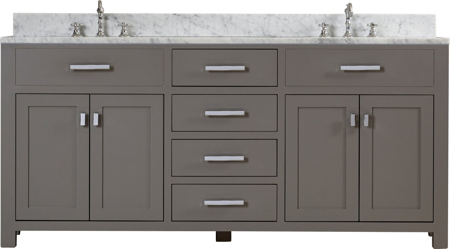 bathroom vanity 72 double sink. Raven 72  Double Sink Bathroom Vanity Set Andover Mills Reviews