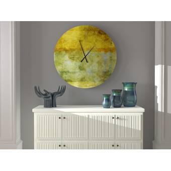 Millwood Pines Oversized Sherrard Wall Clock Reviews Wayfair