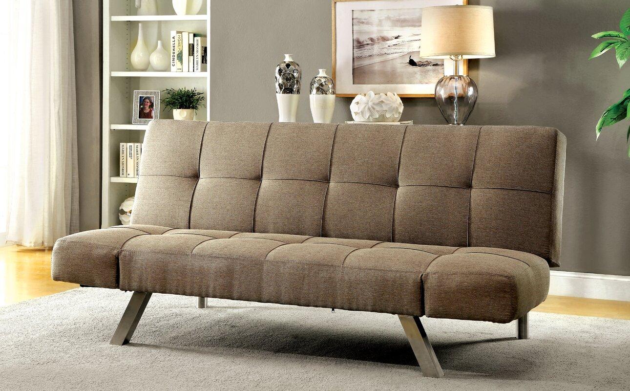 Dockins Tufted Futon Convertible Sofa