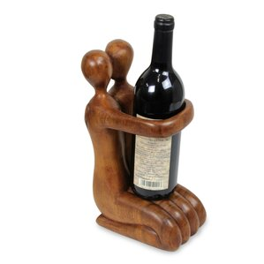 Tabletop Wine Bottle Rack by Novica