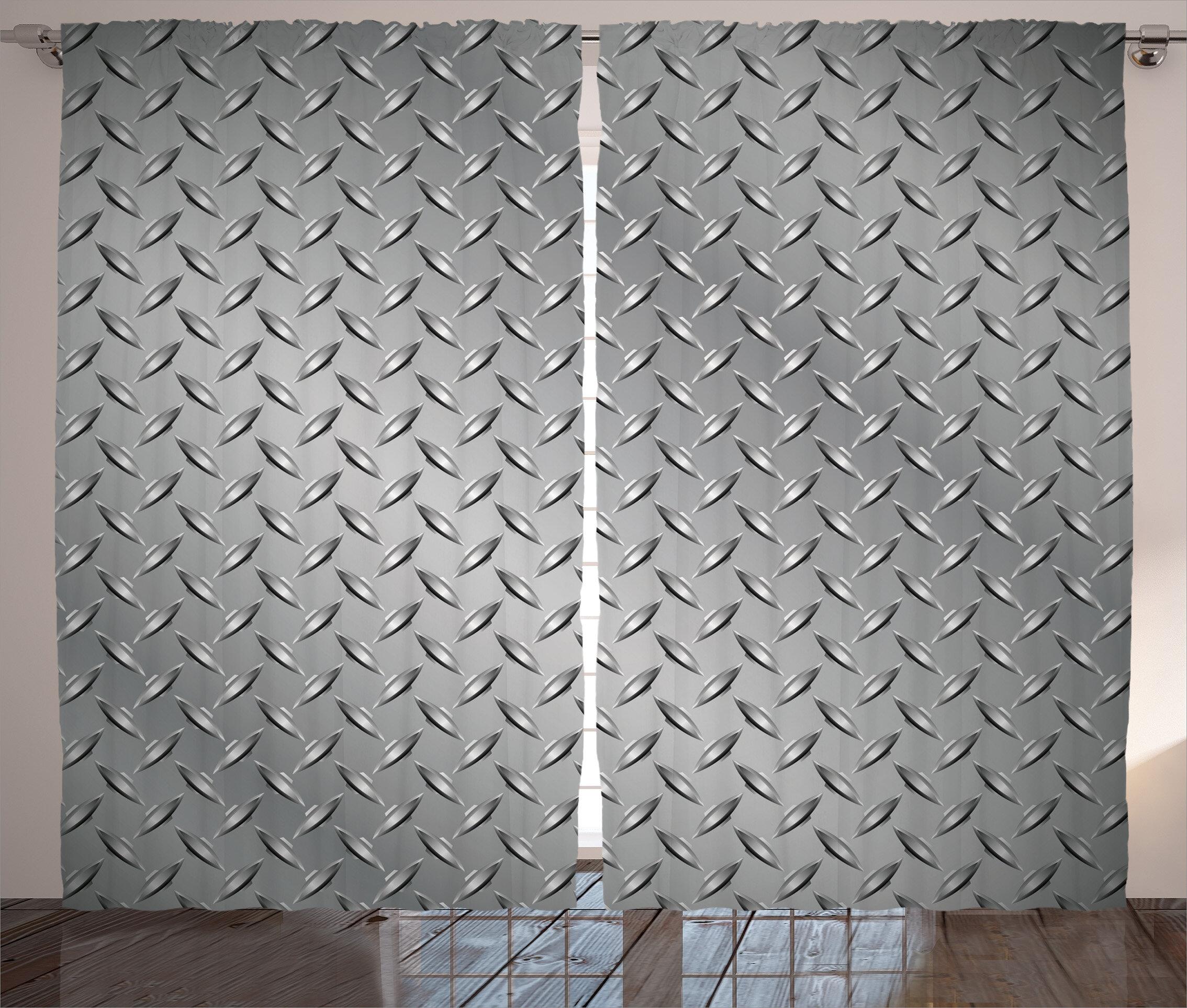 East Urban Home Grey Cross Wire Fence Netting Display with Diamond ...