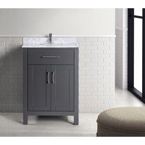 prestwick 24 single bathroom vanity set - Bathroom Cabinets Grey
