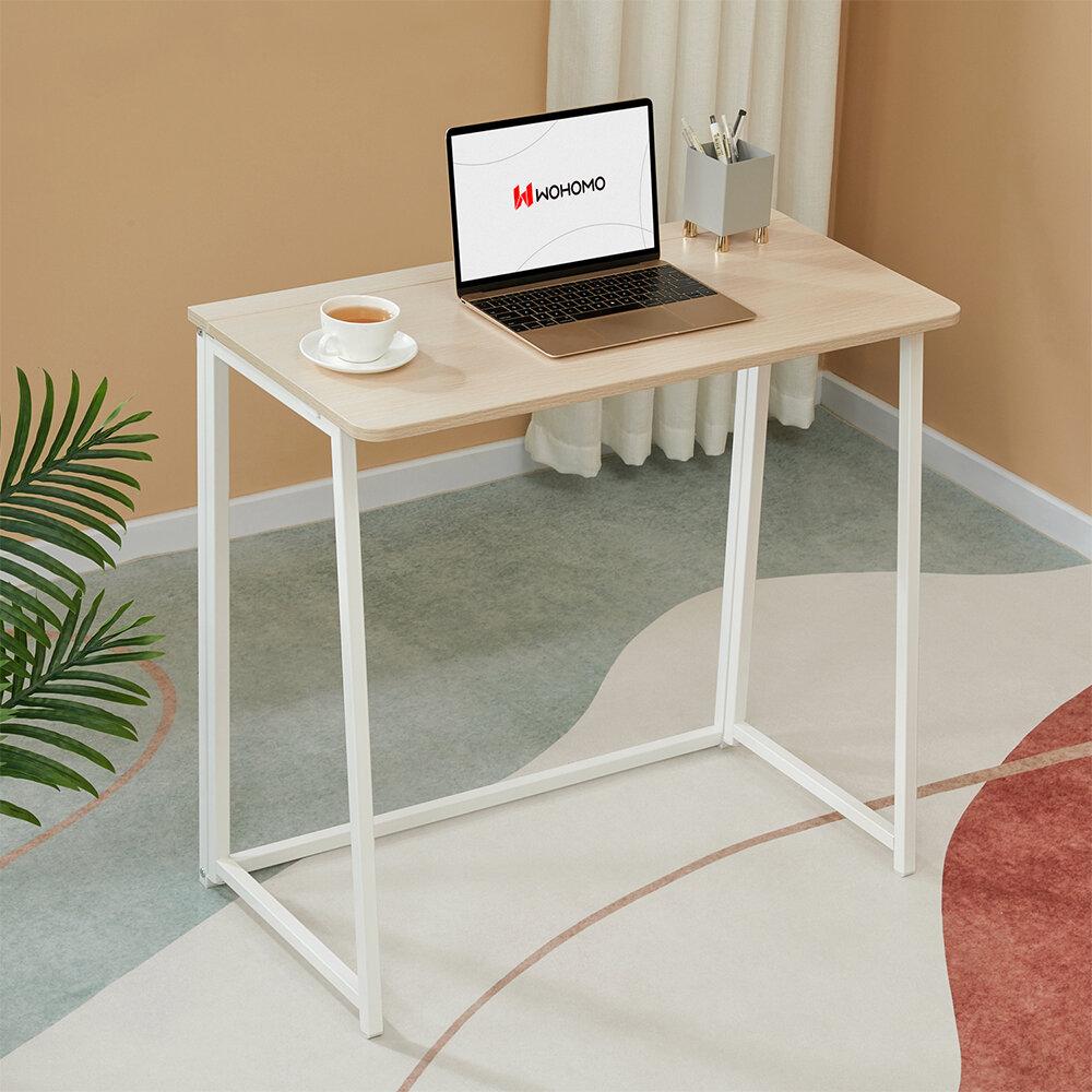 "WOHOMO Folding Computer Desk 31.5"" Small Writing Desk Easy"