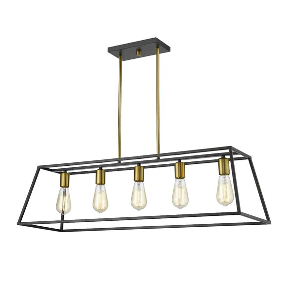 Mullens 5 - Light Kitchen Island Linear Pendant by Wrought Studio™