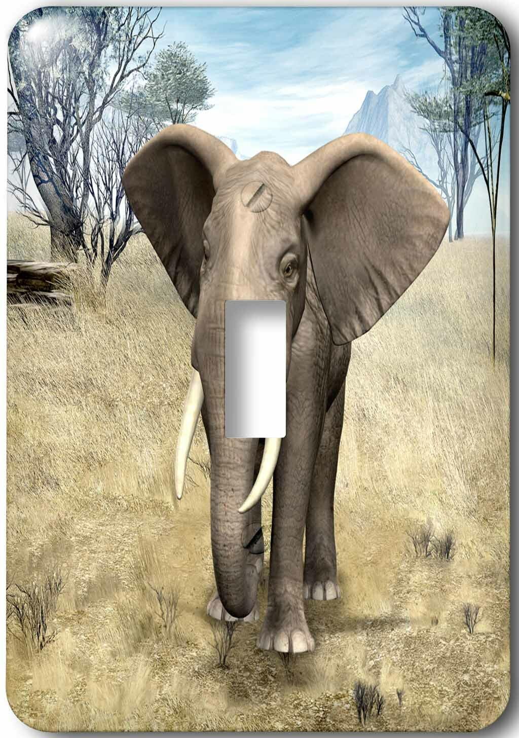 3drose African Savanna Elephant 1 Gang Toggle Light Switch Wall Plate Wayfair