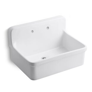 Gilford 30 X 22 Single Bracket Mounted Scrub Up Plaster Sink With Widespread Faucet Holes