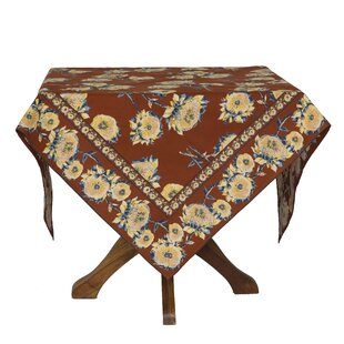 Claypool Sun Flower Floral Tablecloth