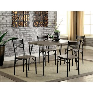 Middleport 5 Piece Dining Set Andover Mills
