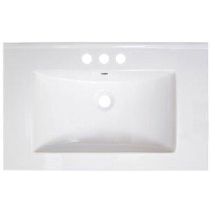 Vee Ceramic 30 Single Bathroom Vanity Top ByAmerican Imaginations