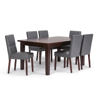 Oaklynn 7 Piece Solid Wood Dining Set Brayden Studio