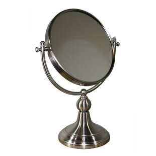 Alphonso Free Standing Round X Magnify Mirror ByDarby Home Co