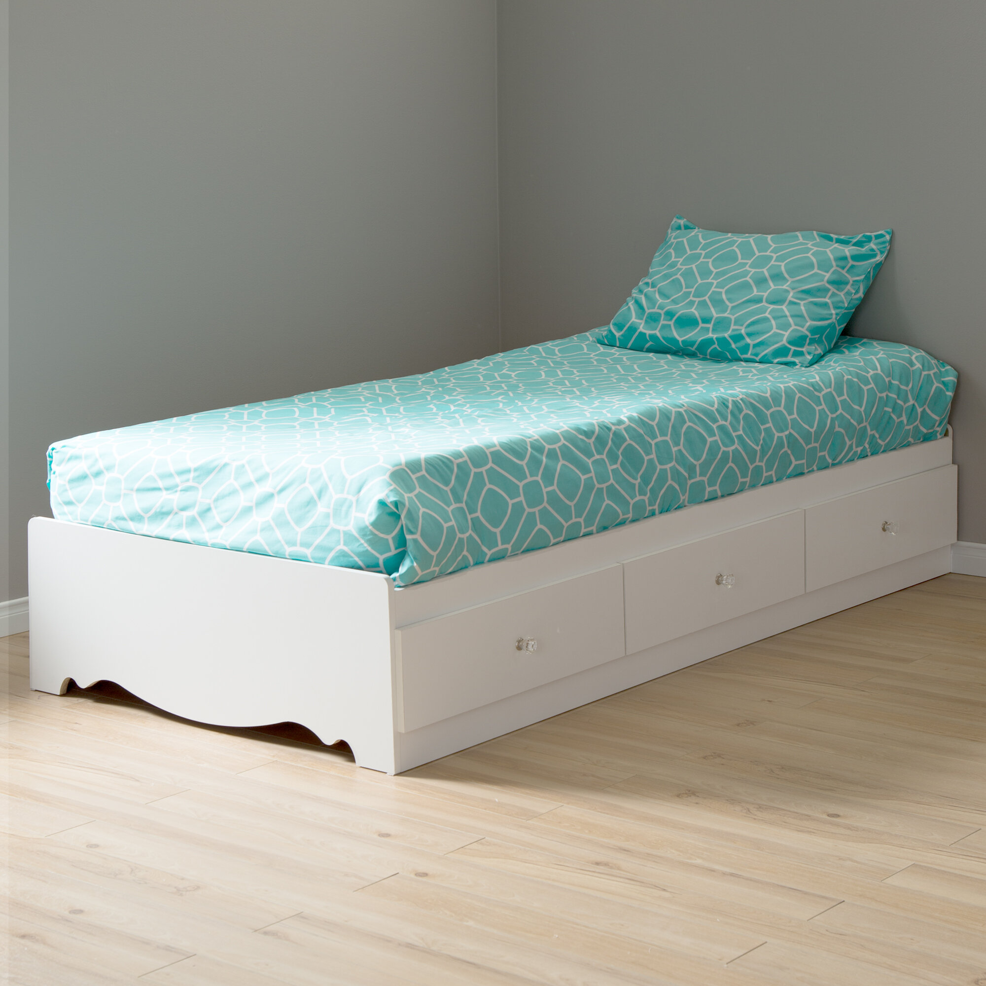 South Shore Crystal Twin Mate S Captain S Bed With Drawers Reviews Wayfair Ca