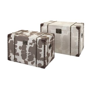 Cowboy 2 Piece Storage Trunk Set by Trisha Yearwood Home Collection