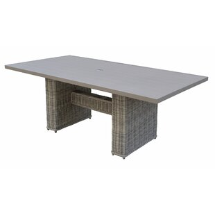 Coast Outdoor Patio Wicker Dining Table by TK Classics Savings