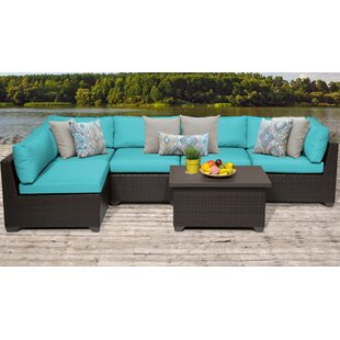 Meier Outdoor 6 Piece Sofa Seating Group with Cushions