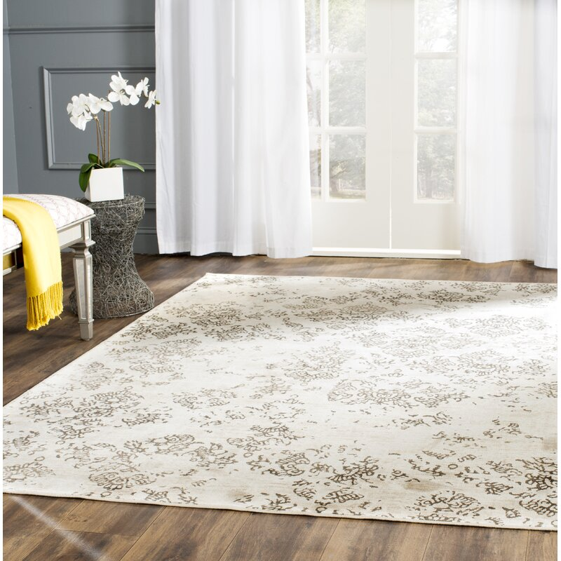 Lark Manor Valmer Damask Beige Area Rug Reviews Wayfair