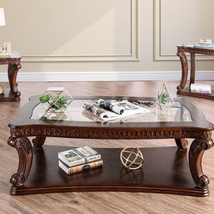 Rowlett Floor Shelf Coffee Table with Storage by Astoria Grand