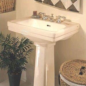 pedestal bathroom sinks. Promenade Vitreous China 24  Pedestal Bathroom Sink with Overflow Sinks You ll Love