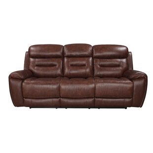 Shop Lauer Leather Reclining Sofa by Ebern Designs