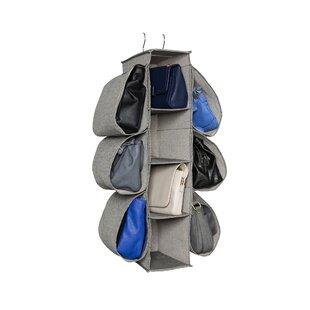 Top Brands of Arrow Weave Canvas Handbag Storage 10 Pockets Hanging Organizer By HomeCrate