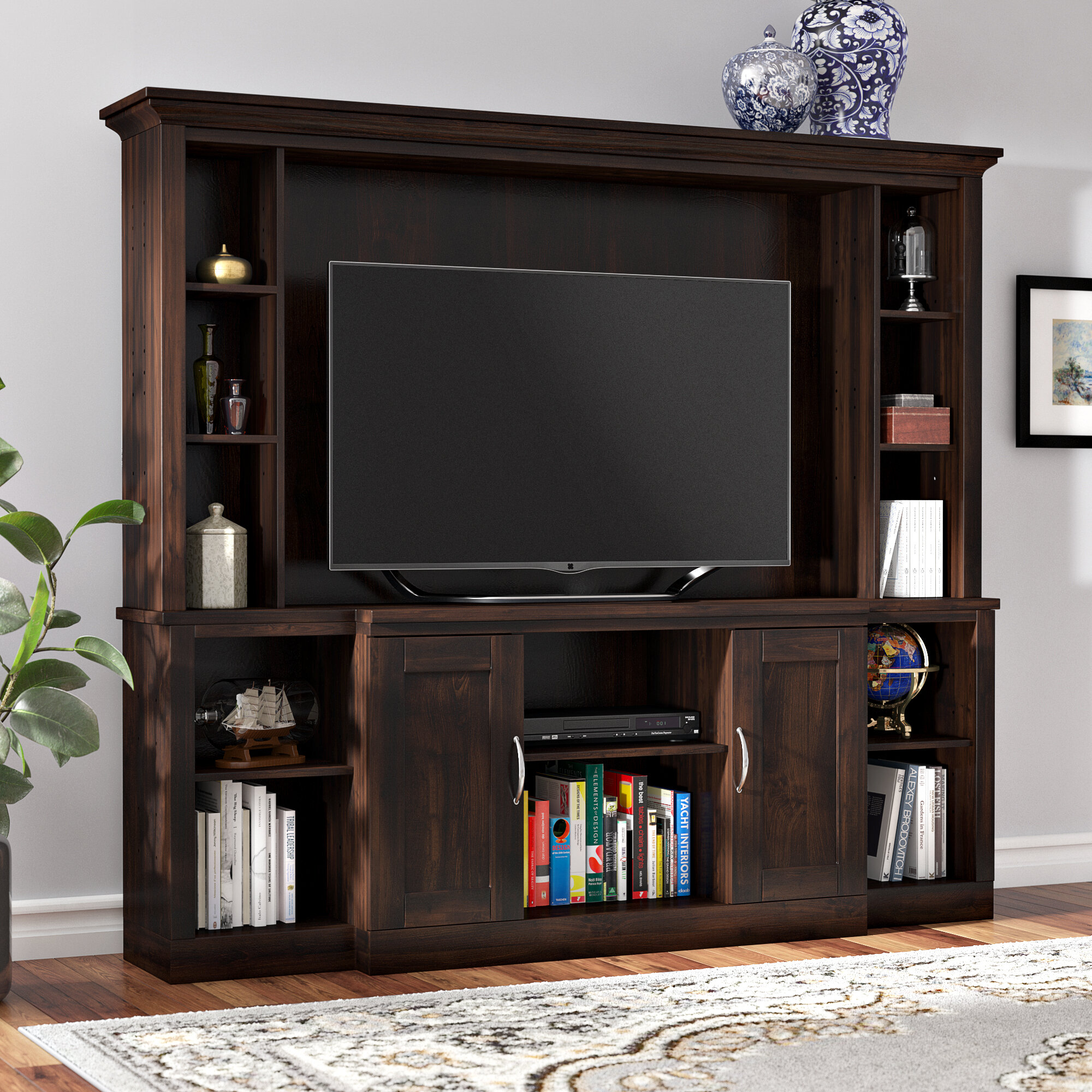 Darby Home Co Hoyne Entertainment Center For Tvs Up To 43 Reviews Wayfair
