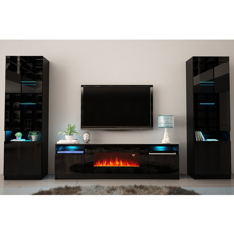 """Orren Ellis Delaine Entertainment Center for TVs up to 88"""" with"""