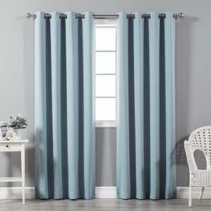Superior Solid Blackout Thermal Grommet Curtain Panels (Set Of 2)