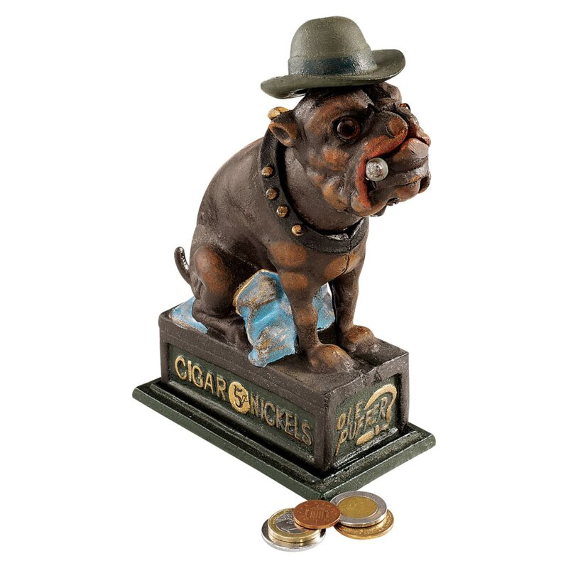 Authentic Spike The English Bulldog Foundry Piggy Bank