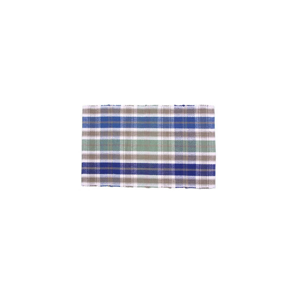 August Grove Weddle Plaid Hand Hooked Cotton Brown Blue Area Rug Wayfair