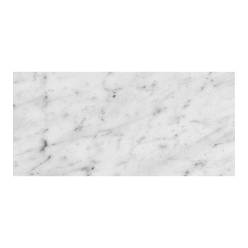 Bianco Carrara 6 X 12 Marble Field Tile