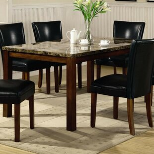 Colbert Contemporary Marble Look Top Dining Table